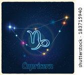 vector constellation capricorn... | Shutterstock .eps vector #183715940
