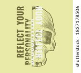 reflect your personality ... | Shutterstock .eps vector #1837178506
