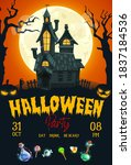 halloween horror night party...   Shutterstock .eps vector #1837184536