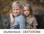 Portrait Of Brother And Sister. ...