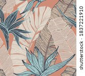 nature seamless pattern. hand...   Shutterstock .eps vector #1837221910