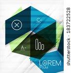 futuristic blocks geometric... | Shutterstock .eps vector #183722528