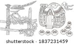 art therapy coloring page.... | Shutterstock .eps vector #1837231459