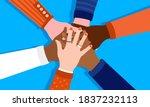 workplace diversity   team of... | Shutterstock .eps vector #1837232113
