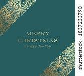 christmas greetings vector... | Shutterstock .eps vector #1837233790