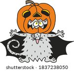 halloween mouse pumpkin on the... | Shutterstock .eps vector #1837238050