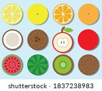 set fruit in the context for... | Shutterstock .eps vector #1837238983