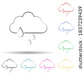 a sign of heavy rain multi...