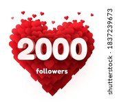 followers thank you. red heart... | Shutterstock .eps vector #1837239673