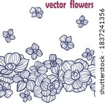 abstract flower and leaf vector ... | Shutterstock .eps vector #1837241356