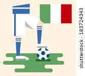 italy  national soccer uniform... | Shutterstock .eps vector #183724343