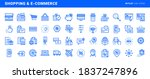 set of flat line icons of... | Shutterstock .eps vector #1837247896