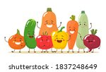 happy and cute vegetables... | Shutterstock .eps vector #1837248649