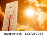 Weather Thermometer Showing...
