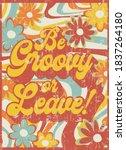 slogan print with hippie style...   Shutterstock .eps vector #1837264180