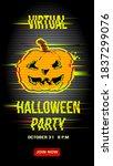 virtual halloween party... | Shutterstock .eps vector #1837299076
