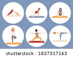 circle banners or frames with... | Shutterstock .eps vector #1837317163