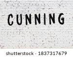 Inscription Cunning Written...