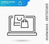 online shopping black linear...