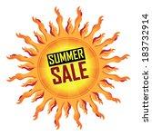 yellow summer sale icon ... | Shutterstock . vector #183732914