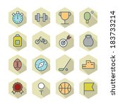 thin line icons for sport.... | Shutterstock .eps vector #183733214