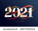 new years 2021. greeting card...   Shutterstock .eps vector #1837335316