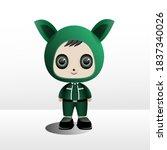 cute baby boy cartoon character ... | Shutterstock .eps vector #1837340026