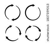 set of black circle vector...   Shutterstock .eps vector #1837359313