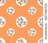 pretty vintage feedsack pattern ...   Shutterstock .eps vector #1837360720