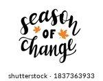 season of change hand drawn... | Shutterstock .eps vector #1837363933