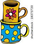 cups   Shutterstock .eps vector #18373720