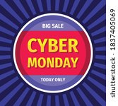 cyber monday concept promotion... | Shutterstock .eps vector #1837405069