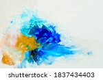 Abstract Oil Paint Background...