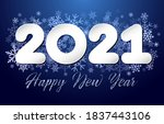 2021 a happy new year sign ... | Shutterstock .eps vector #1837443106