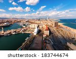 Top View Of Port Vell And...