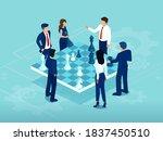 vector of businessmen and women ... | Shutterstock .eps vector #1837450510