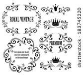 floral design elements ... | Shutterstock .eps vector #183745220