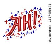 positive poster say ah  with... | Shutterstock .eps vector #1837455676