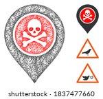 mesh dangerous zone pointer... | Shutterstock .eps vector #1837477660