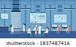 medical scientist working in...   Shutterstock .eps vector #1837487416