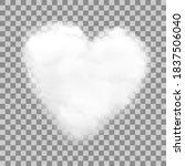 realistic heart shaped white...   Shutterstock .eps vector #1837506040