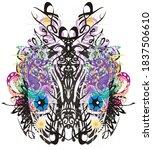 colored ornamental exotic... | Shutterstock . vector #1837506610