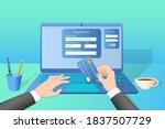 online money transfer.the...   Shutterstock .eps vector #1837507729