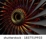 3d Render Of Abstract Art Of 3d ...
