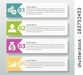 infographic four label template ... | Shutterstock .eps vector #183752453