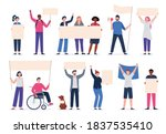 collection of diverse people... | Shutterstock .eps vector #1837535410
