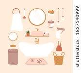 scandinavian modern bathroom...   Shutterstock .eps vector #1837540999