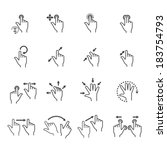 gesture icons for touch devices   Shutterstock .eps vector #183754793