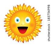 bright joyful sun. vector... | Shutterstock .eps vector #183756998