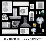 air conditioners  fans and... | Shutterstock .eps vector #1837590049